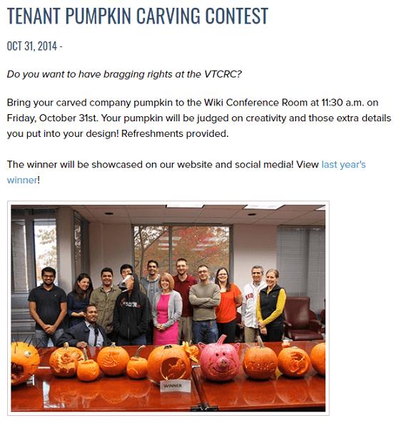 halloween marketing ideas - pumpkin carving contest example
