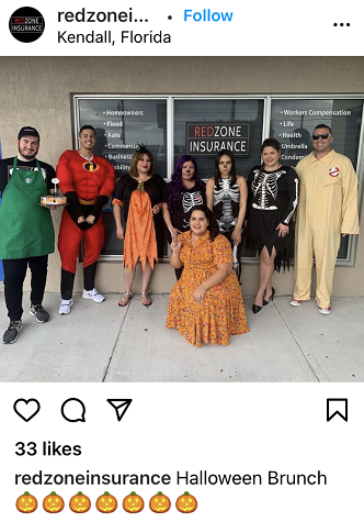 halloween social media posts - halloween costume contest for small business