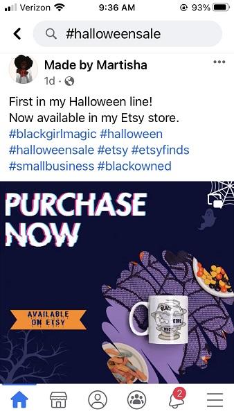 halloween social media posts - halloween small business sale