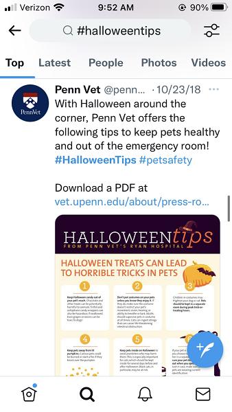 halloween social media posts - halloween small business tips example