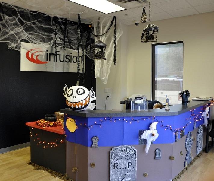 halloween social media posts - small business office halloween example