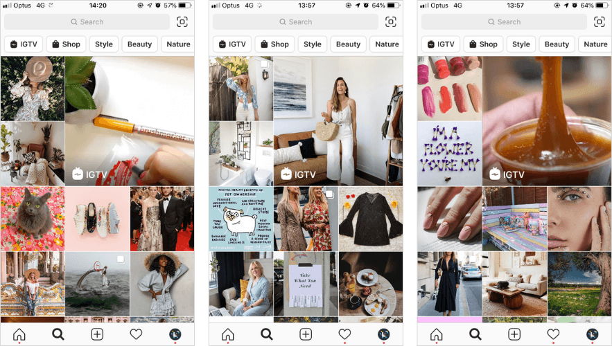 how instagram feed works - instagram explore page example