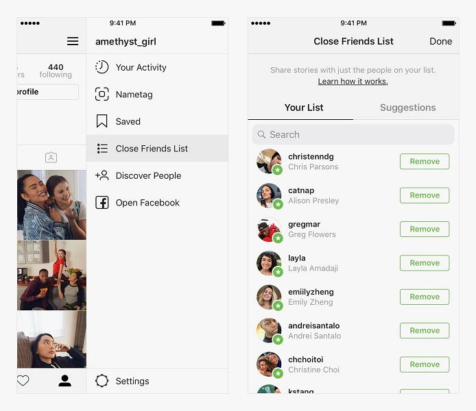how the instagram feed works - instagram close friends