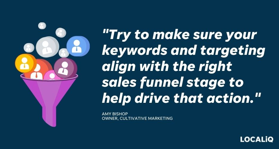 how to improve search advertising performance - choose the right keywords and targeting