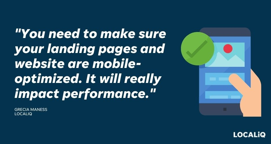 how to improve search advertising performance - make sure site and landing pages are mobile friendly