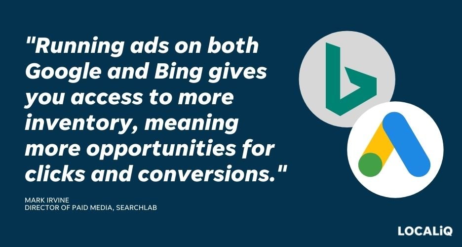 how to improve search advertising performance - run ads on google and bing