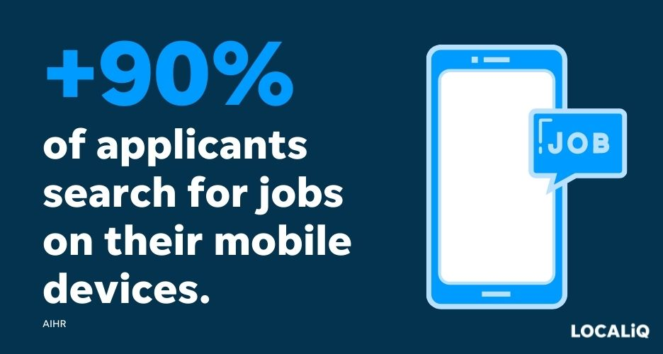 improve the candidate experience - mobile job search stat