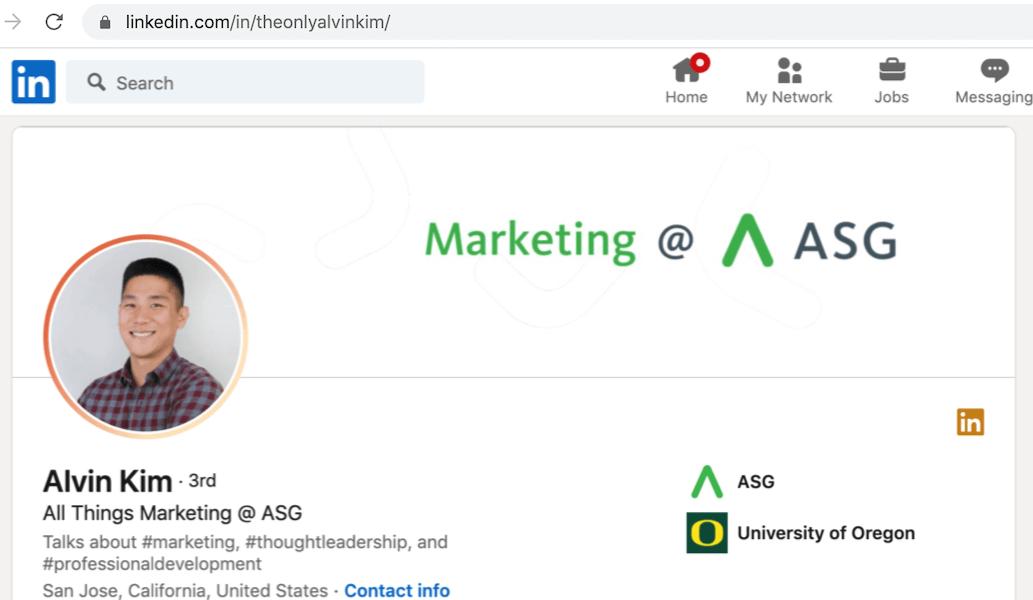 linkedin profile tip - create a unique URL