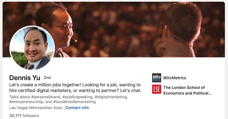 linkedin profile tips - use a catchy headline