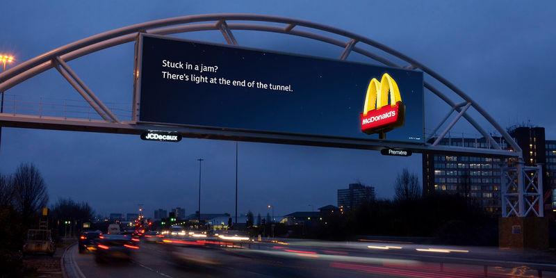 mcdonalds billboards