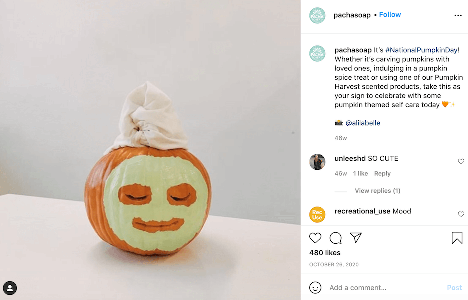 october social media ideas - national pumpkin day