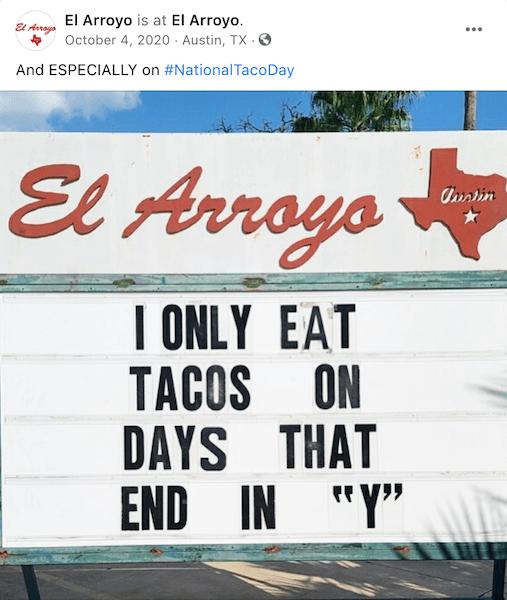 october social media ideas - national taco day