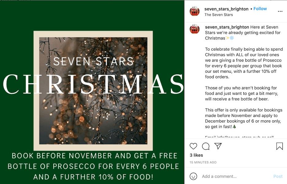 october social media ideas - start holiday social media
