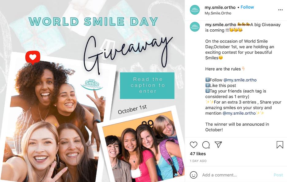 october social media ideas - world smile day
