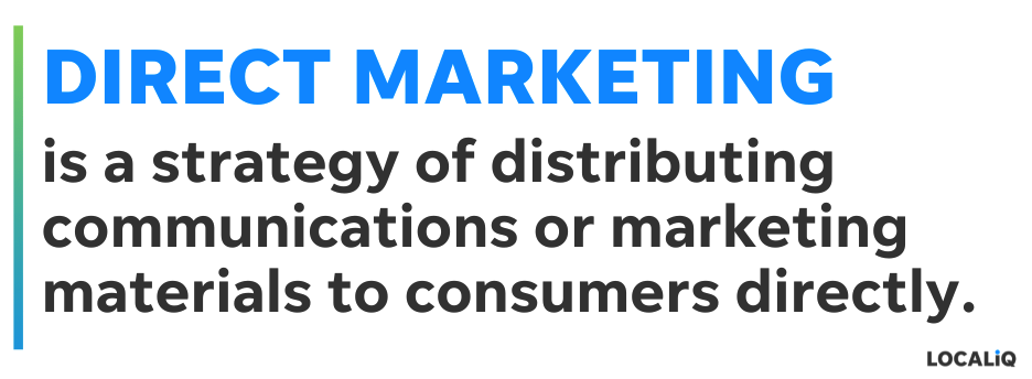 what is direct marketing - definition