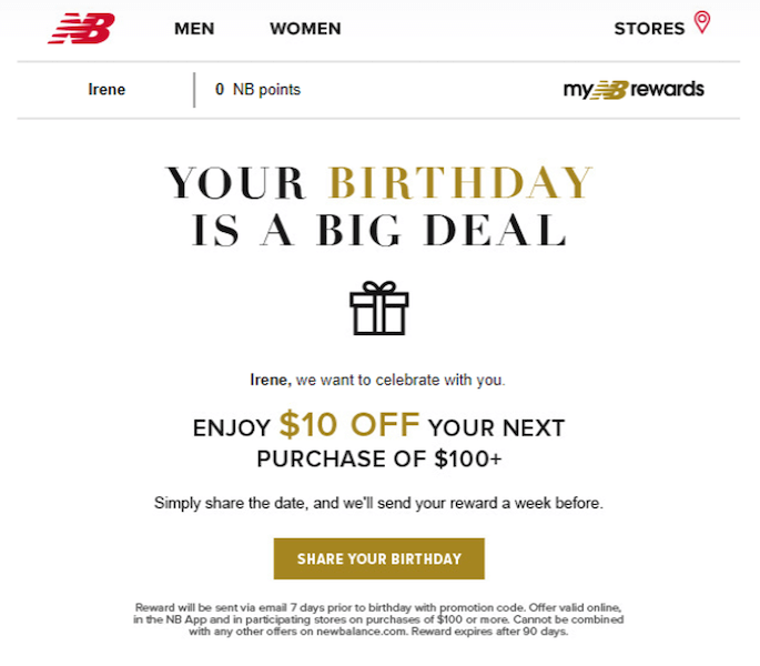 happy birthday email campaign best practices - collect birth dates