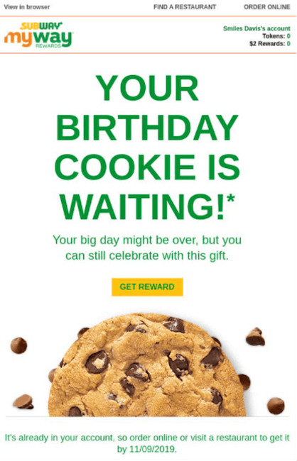 happy birthday email campaign best practices - get creative