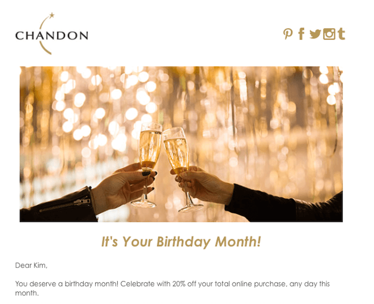 happy birthday email campaign best practices - send gift reminders