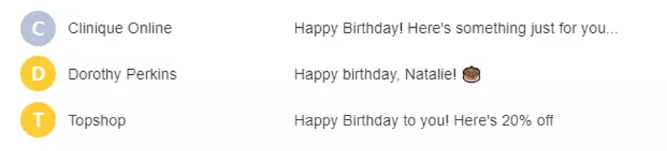 happy birthday email campaign best practices - subject line ideas