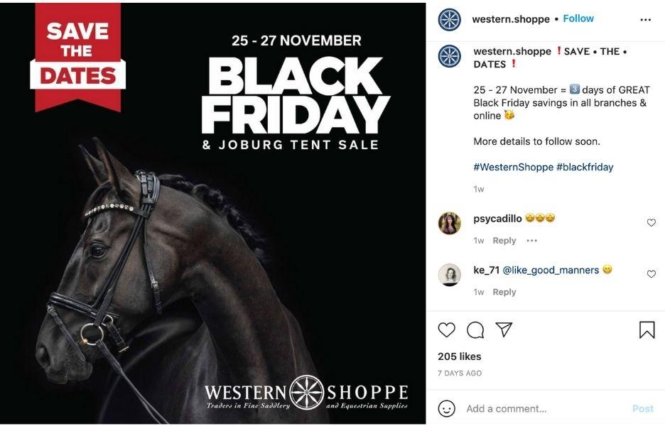 november social media holidays - black friday