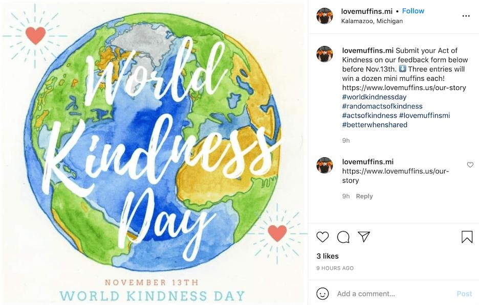 november social media holidays - world kindness day