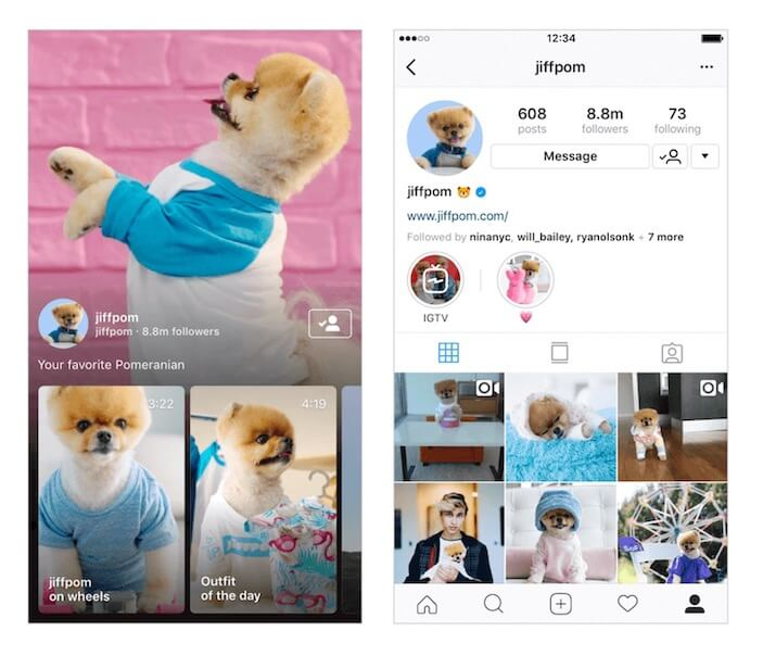 promote your instagram - use IGTV
